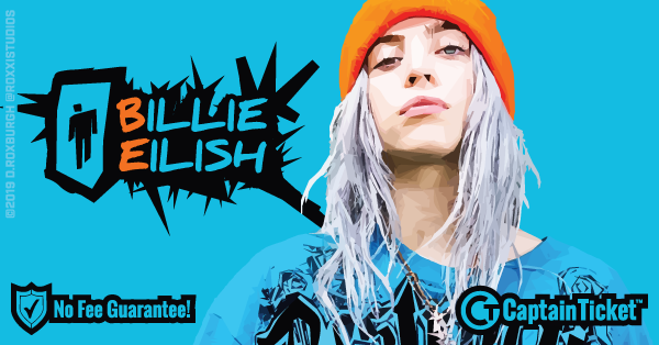 Get Billie Eilish tickets for less with everyday low prices and no service fees at Captain Ticket™ - The Original No Fee Ticket Site! #FanArtByRoxxi