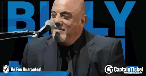 Buy Billy Joel tickets cheaper with no fees at Captain Ticket™ - The Original No Fee Ticket Site!