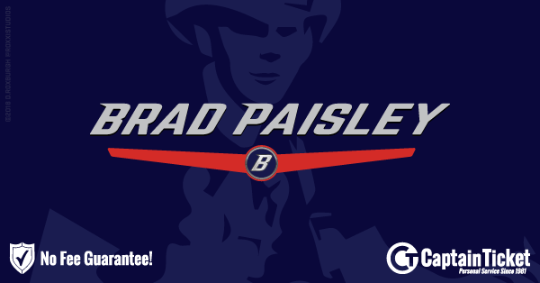 Buy Brad Paisley tickets cheaper with no fees at Captain Ticket™ - The Original No Fee Ticket Site!