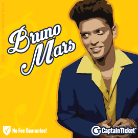 Buy Bruno Mars tickets for less with no service fees at Captain Ticket™ - The Original No Fee Ticket Site! #FanArtByRoxxi