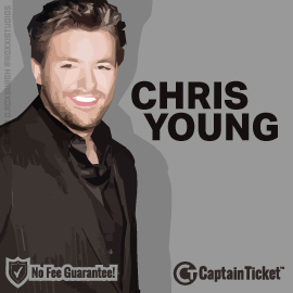 Buy Chris Young tickets for less with no service fees at Captain Ticket™ - The Original No Fee Ticket Site! #FanArtByRoxxi