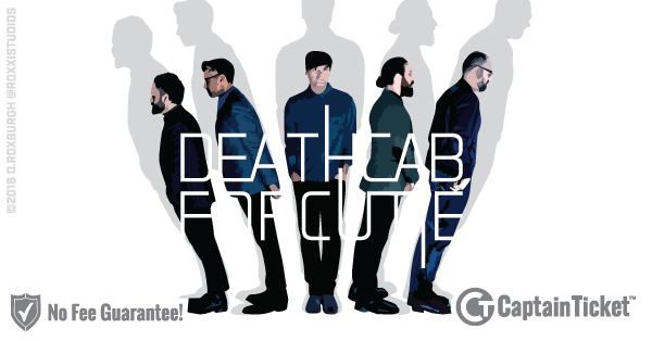 Buy Death Cab for Cutie tickets cheaper with no fees at Captain Ticket™ - The Original No Fee Ticket Site!