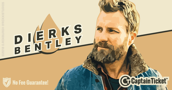 Buy Dierks Bentley tickets cheaper with no fees at Captain Ticket™ - The Original No Fee Ticket Site!