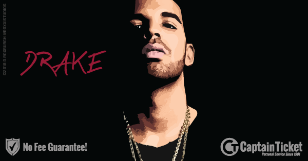 Buy Drake tickets cheaper with no fees at Captain Ticket™ - The Original No Fee Ticket Site!