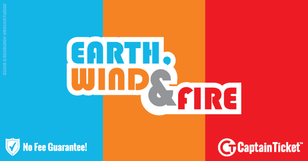 Buy Earth, Wind & Fire tickets cheaper with no fees at Captain Ticket™ - The Original No Fee Ticket Site!