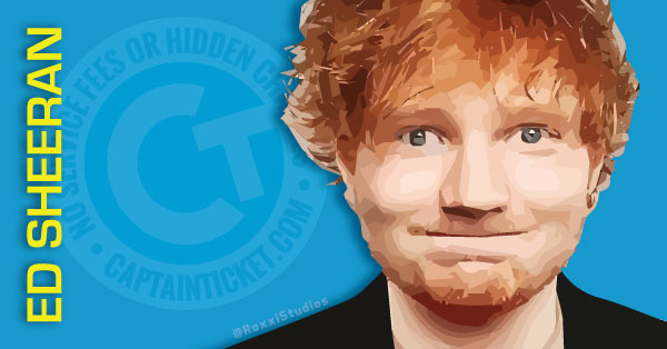 Buy Ed Sheeran tickets cheaper with no fees at Captain Ticket™ - The Original No Fee Ticket Site!