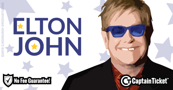 Get Elton John tickets for less with everyday low prices and no service fees at Captain Ticket™ - The Original No Fee Ticket Site! #FanArtByRoxxi