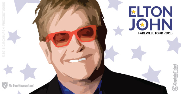 Get Elton John Tickets cheap with no fees or hidden charges