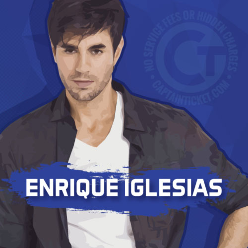 Buy Enrique Iglesias tickets cheaper with no fees at Captain Ticket™ - The Original No Fee Ticket Site!