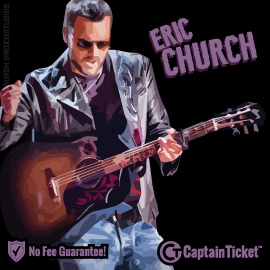 Buy Eric Church tickets cheaper with no fees at Captain Ticket™ - The Original No Fee Ticket Site!