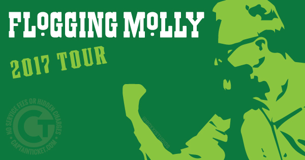 Buy Flogging Molly tickets cheaper with no fees at Captain Ticket™ - The Original No Fee Ticket Site!