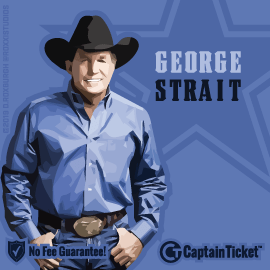 Buy George Strait tickets for less with no service fees at Captain Ticket™ - The Original No Fee Ticket Site! #FanArtByRoxxi