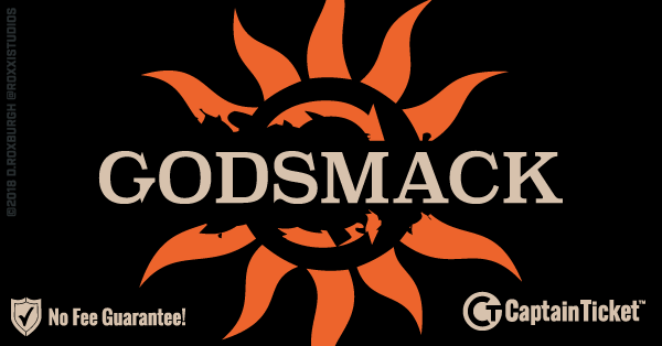 Buy Godsmack tickets cheaper with no fees at Captain Ticket™ - The Original No Fee Ticket Site!