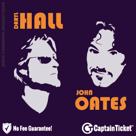 Buy Daryl Hall and John Oates tickets cheaper with no fees at Captain Ticket™ - The Original No Fee Ticket Site!