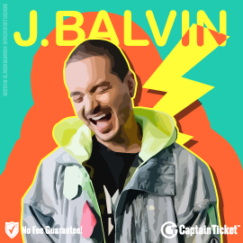 Buy J Balvin tickets cheaper with no fees at Captain Ticket™ - The Original No Fee Ticket Site!