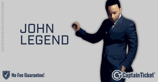 Buy John Legend tickets cheaper with no fees at Captain Ticket™ - The Original No Fee Ticket Site!
