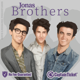 Buy Jonas Brothers tickets for less with no service fees at Captain Ticket™ - The Original No Fee Ticket Site! #FanArtByRoxxi