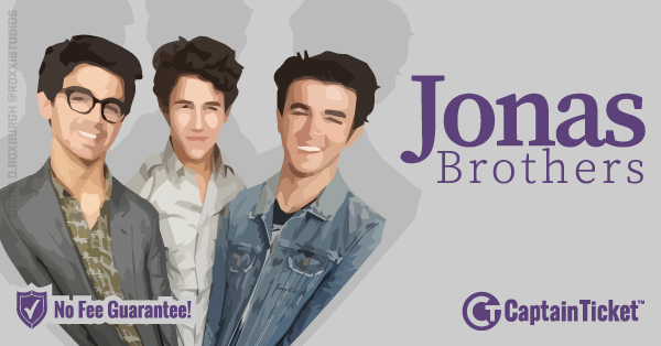Get Jonas Brothers tickets for less with everyday low prices and no service fees at Captain Ticket™ - The Original No Fee Ticket Site! #FanArtByRoxxi