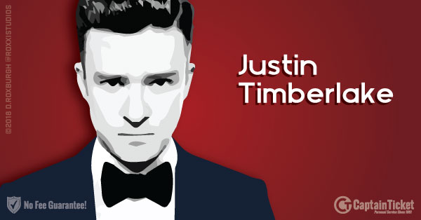 Buy Justin Timberlake tickets cheaper with no fees at Captain Ticket™ - The Original No Fee Ticket Site!