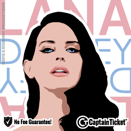 Buy Lana Del Rey tickets for less with no service fees at Captain Ticket™ - The Original No Fee Ticket Site! #FanArtByRoxxi