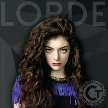 Get Lorde Tickets cheap with no fees or hidden charges