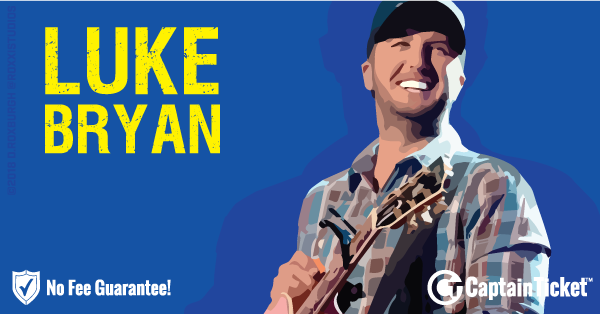 Buy Luke Bryan tickets cheaper with no fees at Captain Ticket™ - The Original No Fee Ticket Site!