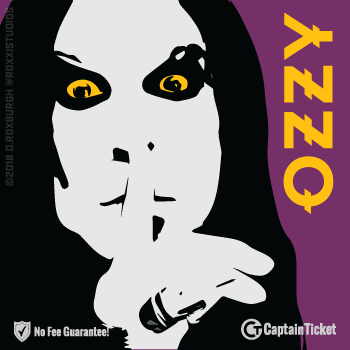 Buy Ozzy Osbourne tickets cheaper with no fees at Captain Ticket™ - The Original No Fee Ticket Site!