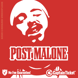 Buy Post Malone tickets for less with no service fees at Captain Ticket™ - The Original No Fee Ticket Site! #FanArtByRoxxi