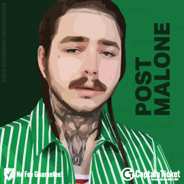 Buy Post Malone tickets cheaper with no fees at Captain Ticket™ - The Original No Fee Ticket Site!