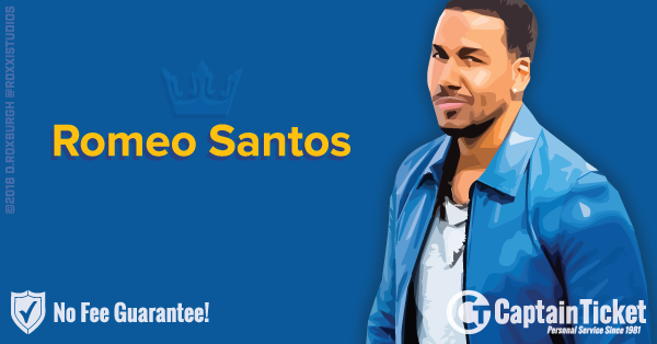 Buy Romeo Santos tickets at the cheapest prices online with no fees or hidden charges