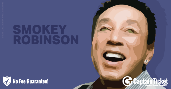 Buy Smokey Robinson tickets cheaper with no fees at Captain Ticket™ - The Original No Fee Ticket Site!