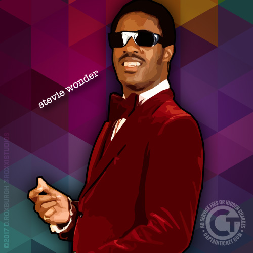 Buy Stevie Wonder tickets cheaper with no fees at Captain Ticket™ - The Original No Fee Ticket Site!