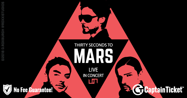 Buy 30 Seconds To Mars tickets cheaper with no fees at Captain Ticket™ - The Original No Fee Ticket Site!
