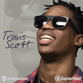 Buy Travis Scott tickets cheaper with no fees at Captain Ticket™ - The Original No Fee Ticket Site!
