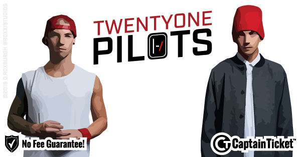 Buy Twenty One Pilots tickets cheaper with no fees at Captain Ticket™ - The Original No Fee Ticket Site!