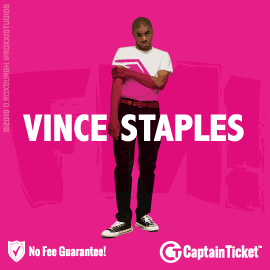 Buy Vince Staples tickets for less with no service fees at Captain Ticket™ - The Original No Fee Ticket Site! #FanArtByRoxxi