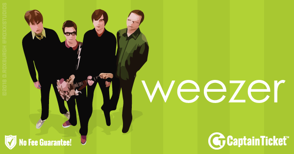 Buy Weezer tickets at the cheapest prices online with no fees or hidden charges