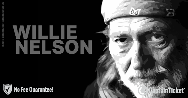 Get Willie Nelson tickets for less with everyday low prices and no service fees at Captain Ticket™ - The Original No Fee Ticket Site! #FanArtByRoxxi